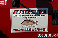 Atlantic Seafood truck logo day of harvest