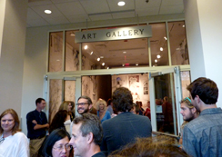 An opening reception at the Cultural Arts Building Gallery