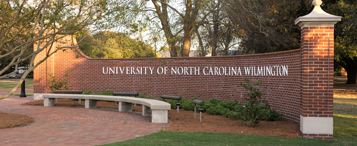Front entrance of the UNCW campus
