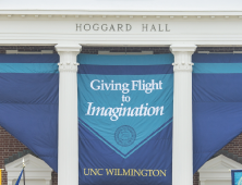Giving Flight to Imagination Banner at Hoggard Hall
