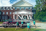 "Move-in image with ""Welcome, New Seahawks!"" graphic"