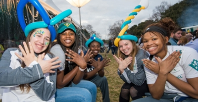UNCW students at homecoming 2018