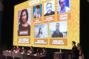 Screen showing the guest panelists.