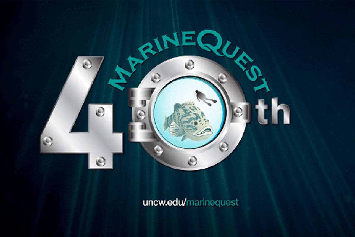 Logo for 40th Anniversary of MarineQuest,