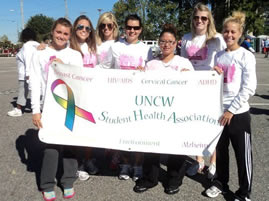 Student Health Assn_Brst Cancer Walk