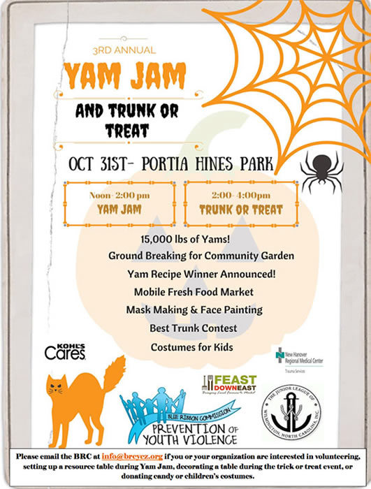 Yam Yam & Trunk or Treat flyer