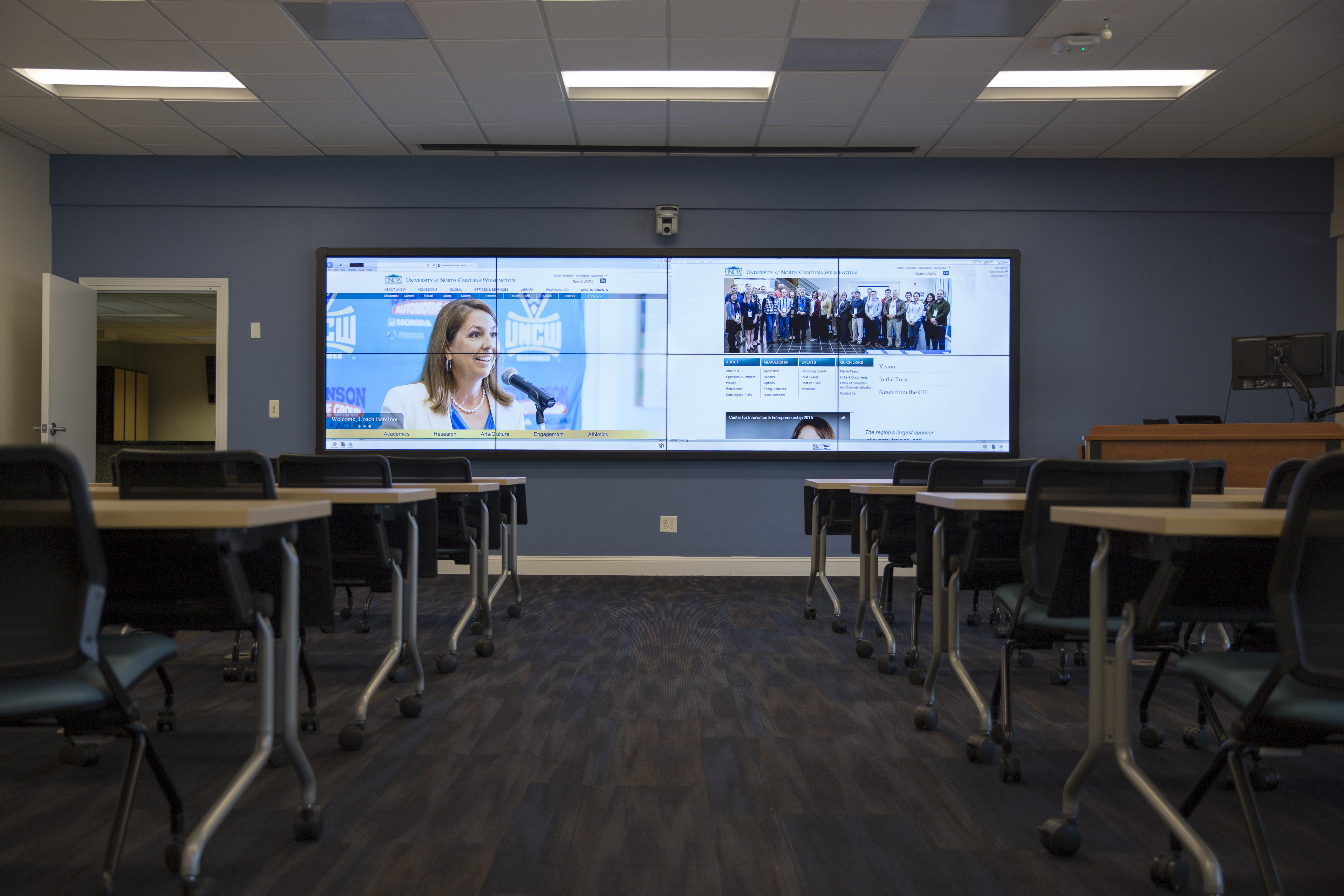 New And Improved Event Space Video Wall
