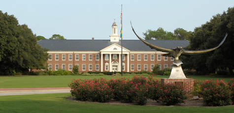 Hoggard Hall across the Mall