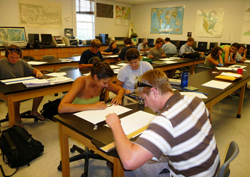 Students in Cartography Lab