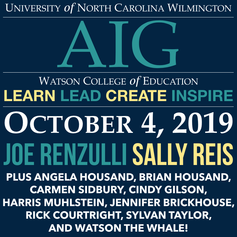 UNCW AIG Conference: Academically or Intellectually Gifted