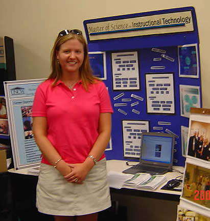 MIT student Kristen Lee at the 2005 Education Fair