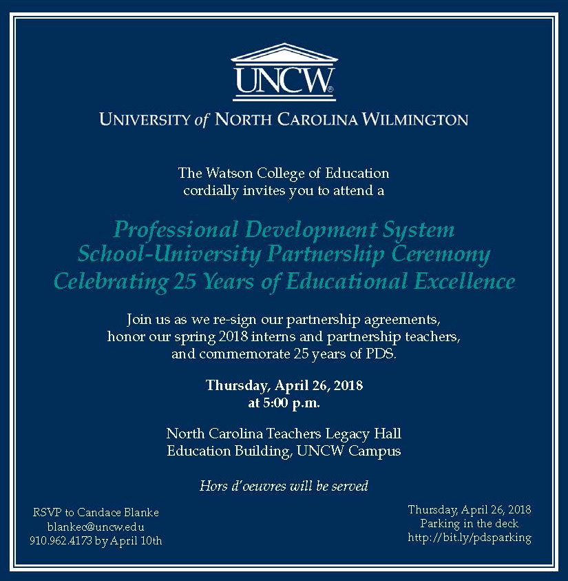 Stem School Wilmington Nc: Watson College Of Education At The University Of North