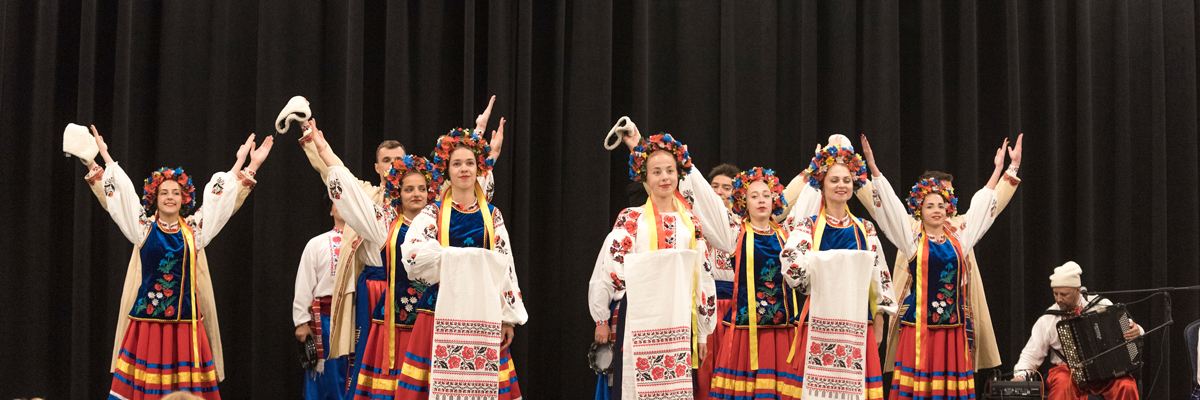 Department of World Languages and Cultures (WLC), Office of Community Engagement, International Programs and Military Affairs hosts Radost, a Ukrainian Folk Dance Ensemble