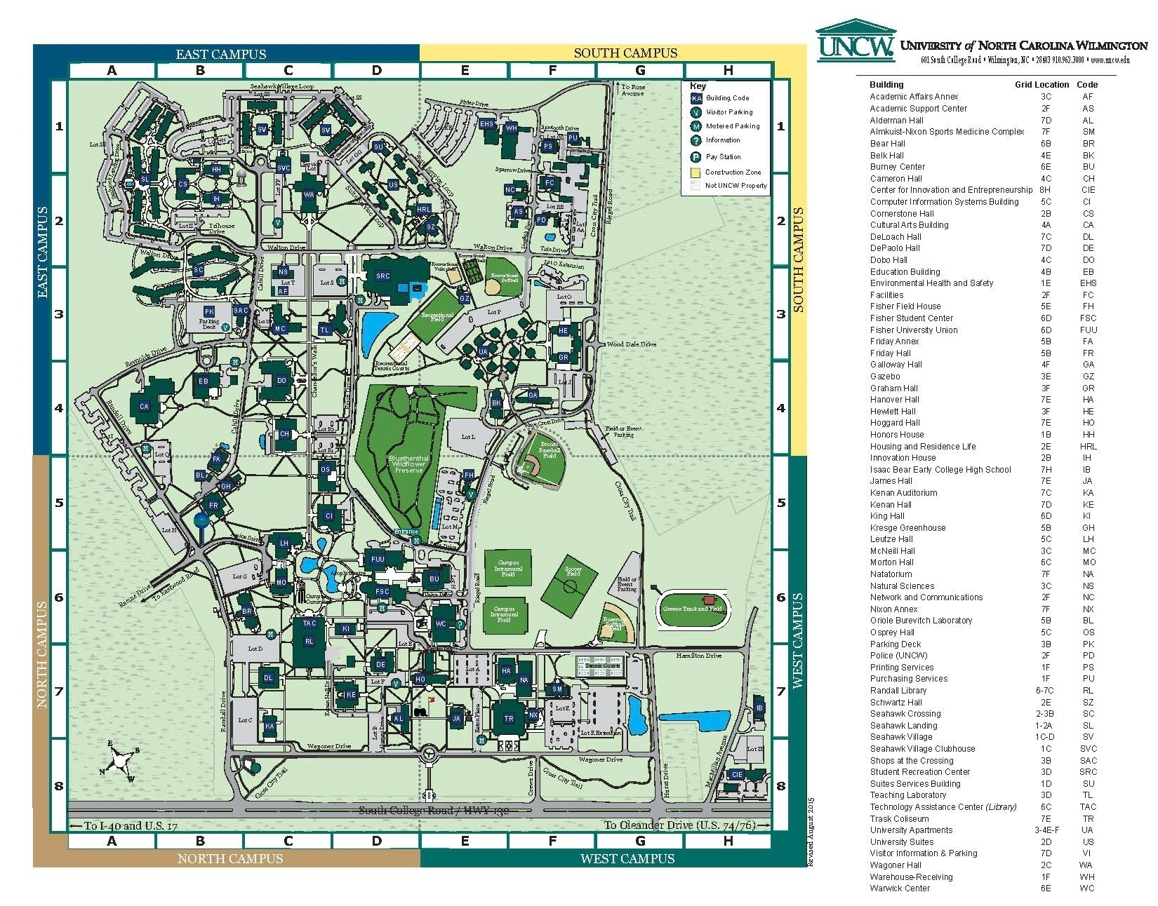 Environmental Sciences: UNCW on stanford building map, south alabama building map, unc building map, radford building map, tennessee building map, auburn building map, nccu building map, pepperdine building map, vanderbilt building map, sfsu building map, northeastern building map, usc building map, american university building map, coastal carolina building map, wichita state building map, indiana building map, old dominion building map, georgia tech building map, csuf building map, clemson building map,
