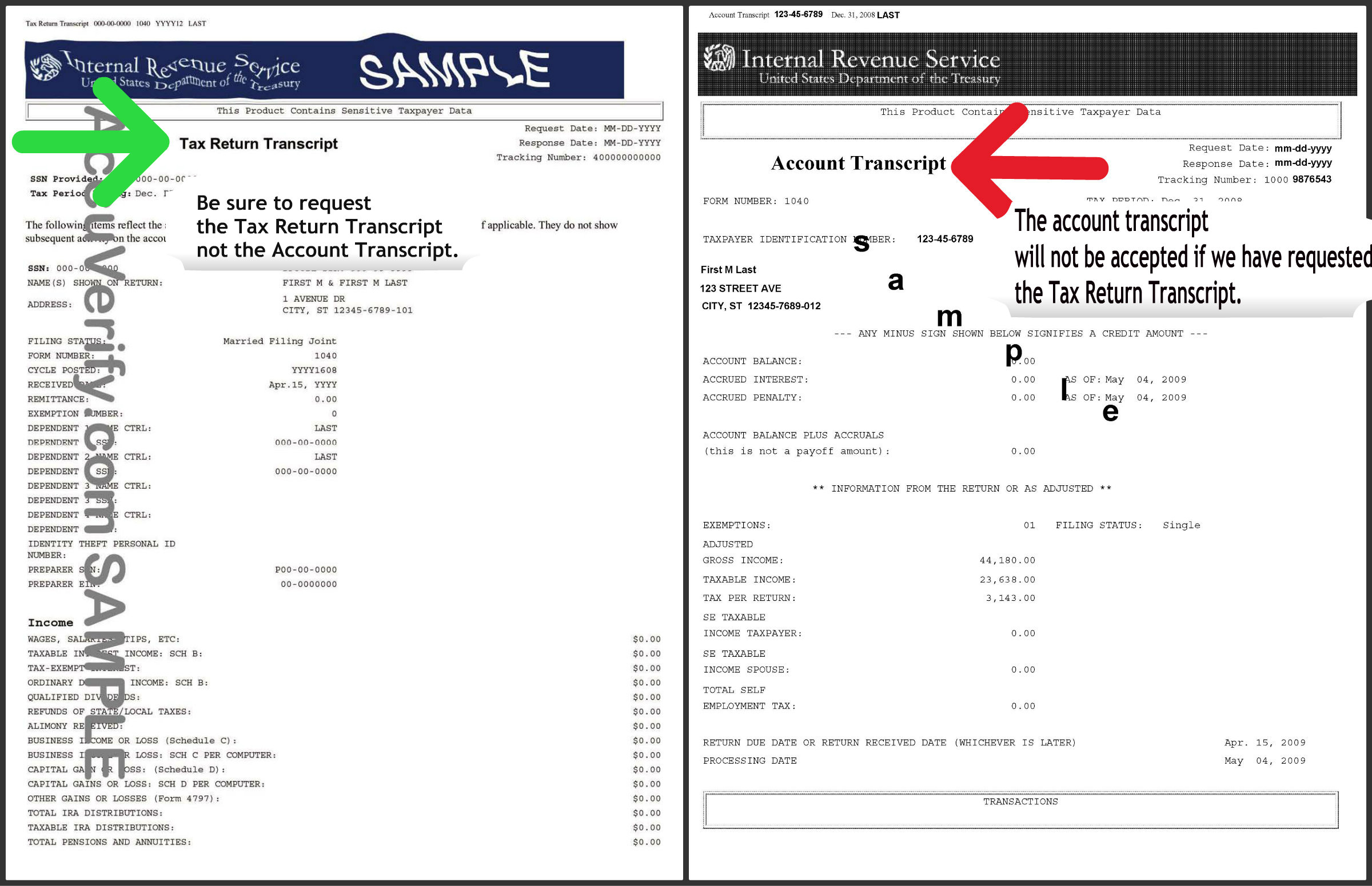 worksheet Federal Verification Worksheet osfa forms what does a tax return transcript look like
