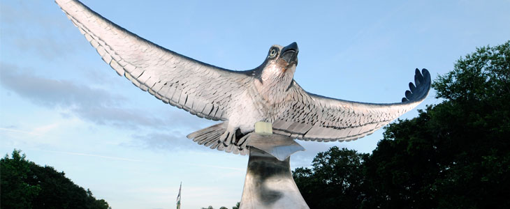 UNCW Seahawk sculpture