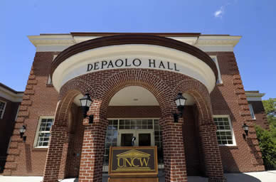The front of Depaolo Hall