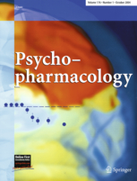 The journal cover of Psychopharmacology.