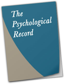 Journal cover of the Psychological Record.