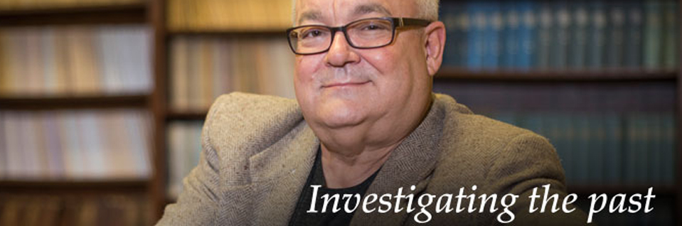 """Investigating the Past"" - professor with books"