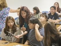 Maike Walbrecht and Korean ESL students