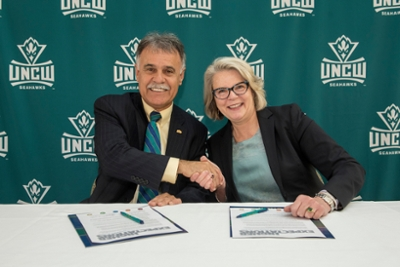 Chancellor Sartarelli and Margaret Spellings