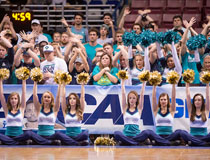 UNCW Fans and Cheerleaders