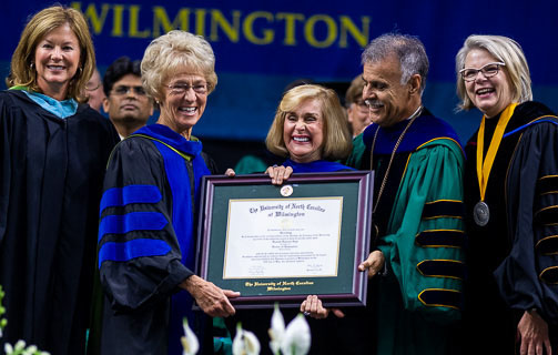 UNCW Presents Honorary Degree to Hannah Dawson Gage