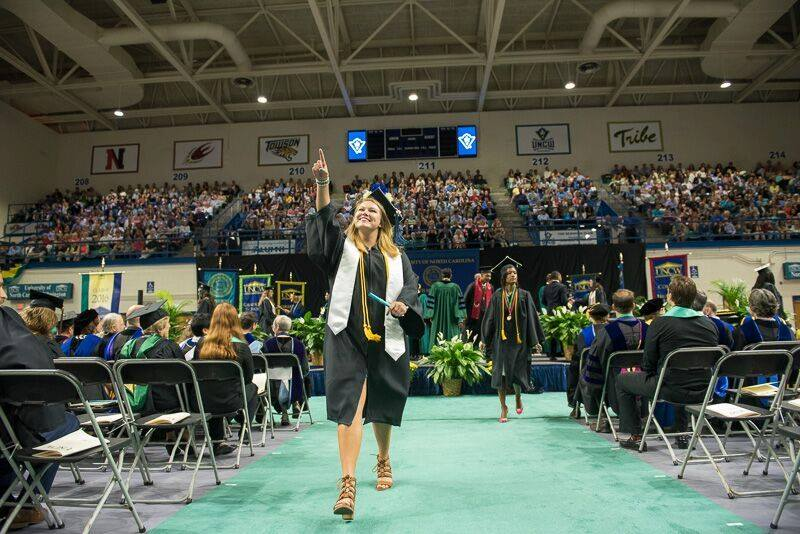 commencement in Trask Coliseum