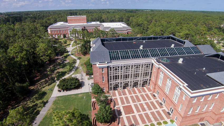 Aerial view of Watson College of Education