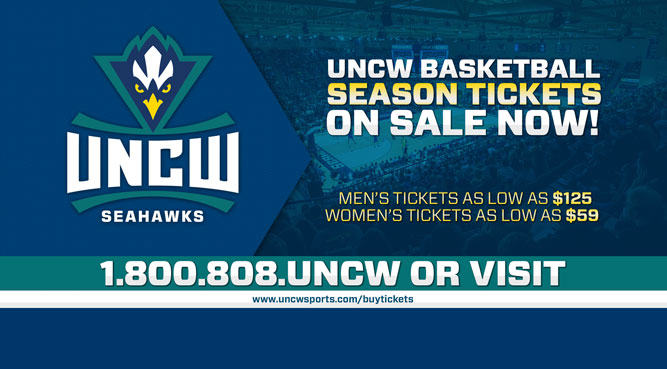 UNCW Basketball Season Tickets on Sale Now!