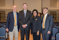Tom Simpson, Kelly S. King, Wilma Daniels and Chancellor Sartarelli