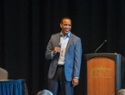 Kevin Keatts at Med Week presentation