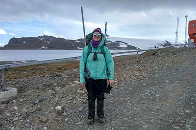 Katie Reed '21Ph.D. led an expedtion to Antarctica in 2019, one of several visits conducted as part of the team's research.