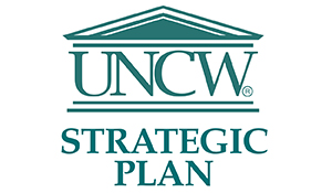 UNCW house logo over Strategic Plan text