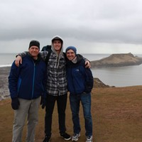 Associate professor William Bolduc along with Connor Buss and Zach Pomeroy