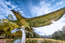 UNCW seahawk statue soars in front of the campus