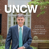UNCW Magazine Spring Issue Cover with Chancellor