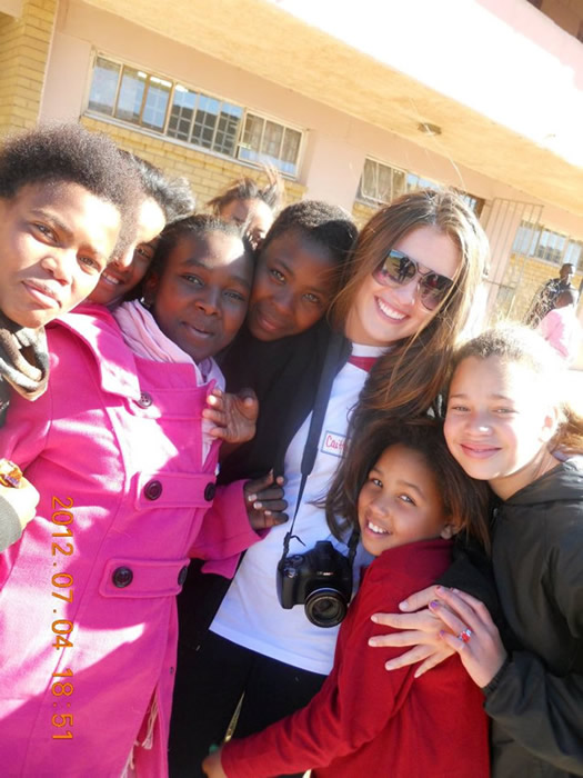 Caitlin in South Africa