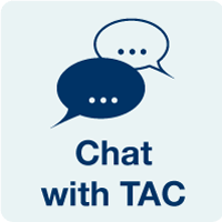 Chat button for Technology Assistance Center (TAC)