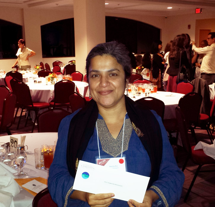 Amrita Das with Prize