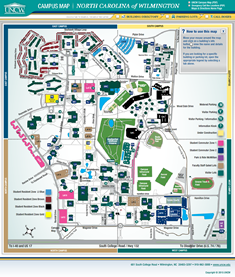 Preview of interactive UNCW campus map