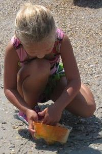 Marine Science Summer Camp girl on beach