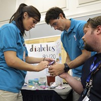 Student nurses screen community for health problems