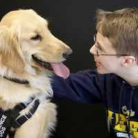 A service dog and his human companion
