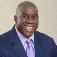 Former NBA basketball star Magic Johnson
