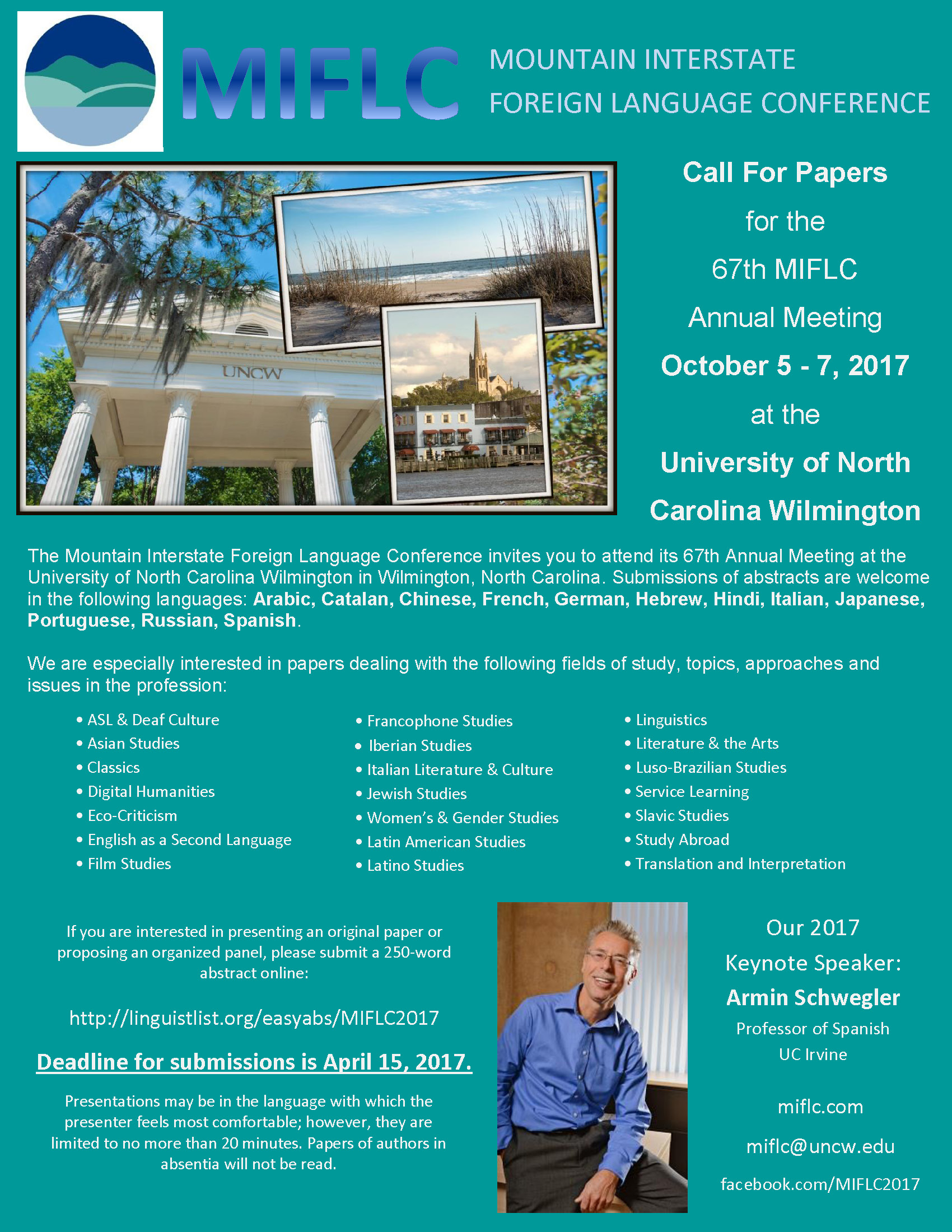 Call for Papers: MIFLC: UNCW