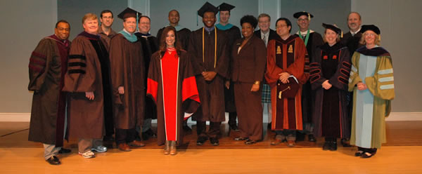 Faculty at Graduation Ceremony