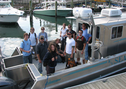 Students onboard R/V Seahawk