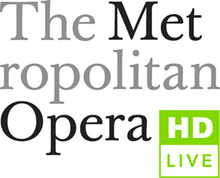 Met Opera Live in HD written Logo